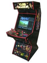 85 2-player, club marko, arcade classics, black, red buttons, red trackball, black