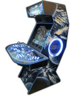 80 4-player, mame, space, lighted, blue, blue buttons, blue trackball, led lights