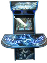 79 4-player, mame, space, lighted, blue, blue buttons, blue trackball, led lights