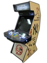 78 2-player, white buttons, blue buttons, lighted, blue trackball, sports, baseball, yankees