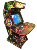67 4-player, arcade classics, mame, lighted, red buttons, blue buttons, red trackball