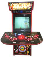 66 4-player, arcade classics, mame, lighted, red buttons, blue buttons, red trackball