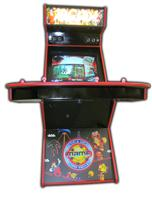 64 4-player, arcade classics, mame, lighted, red buttons, blue buttons, red trackball