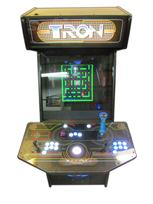 60 2-player, tron, lighted, white buttons, spinner, white trackball, tron joystick, blue buttons, led lights