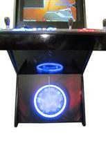55 4-player, iron man, lighted, led lights, green buttons, blue buttons, blue trackball, red buttons, yellow buttons spinner