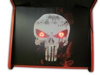 559 4-player, red buttons, lighted, black trackball, red trim, punisher, skull