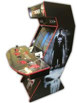 562 4-player, red buttons, lighted, black trackball, red trim, punisher, skull