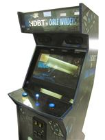 687 2-player, blue buttons, lighted, blue trackball, blue trim, hdbt vs cable invaders