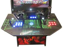 840 2-player, blue buttons, red buttons, lighted, blue trackball, black trim, tron joystick, spinner, escape from new york