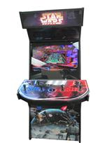 1036 4-player, blue buttons, red buttons, black trackball, black trim, star wars