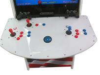 1038 2-player, blue buttons, red buttons, white buttons, blue trackball, white trim, classic arcades, american