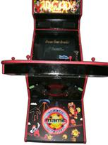 106 4-player, arcade classics, mame, lighted, red buttons, blue buttons, red trackball, led lights