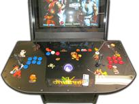 133 2-player, ourcade, arcade classics, blue buttons, red buttons, purple trackball
