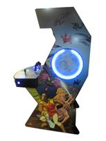 928 2-player, blue buttons, red buttons, lighted, green trackball, black trim, tron joystick, spinner, shumans lair