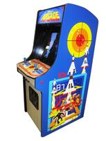 1047 2-player, blue buttons, red buttons, red trackball, black trim, arcade classic