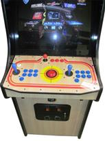 1048 2-player, blue buttons, red buttons, red trackball, black trim, arcade classic