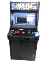 1051 2-player, blue buttons, red buttons, white buttons, red trackball, black trim, spinner, mame, classic arcade