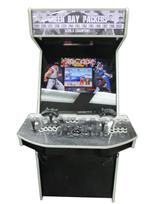 1055 2-player, black buttons, white buttons, black trackball, black trim, white trim, spinner, green bay packers, players