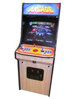1060 2-player, blue buttons, red buttons, red trackball, black trim, arcade classic