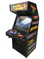 1182 2-player, blue buttons, orange buttons, lighted, blue trackball, black trim, spinner, classic arcade