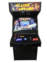 1183 2-player, blue buttons, red buttons, lighted, blue trackball, black trim, spinner, classic arcades