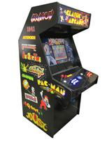 1184 2-player, yellow buttons, blue buttons, red buttons, lighted, blue trackball, black trim, spinner, classic arcades