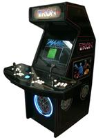 109 4-player, led lights, tron, white buttons, blue trackball, black, tron joystick, spinner
