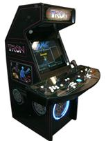 108 4-player, led lights, tron, white buttons, blue trackball, black, tron joystick, spinner