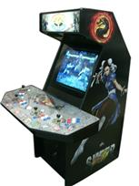 116 4-player, street fighter, red buttons, white buttons, blue buttons, white trackball, coin door