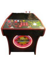 533 2-player, lighted, led lights, red buttons, white trackball, dual trackballs