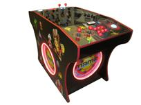 535 2-player, lighted, led lights, red buttons, white trackball, dual trackballs
