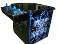 196 2-player, ultimate arcade, lightning, coin door, blue buttons, blue trackball