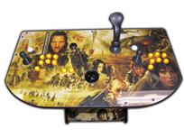 337 2-player, lord of the ring, led lights, lighted, yellow buttons, black trackball, tron joystick, spinner