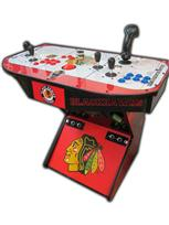 330 2-player, red buttons, blue buttons, spinner, tron joystick, sports, blackhawks, hockey