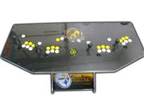 327 4-player, sports, steelers, football, yellow buttons, white buttons, yellow trackball