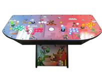 317 4-player, mario, lighted, green buttons, blue buttons, red buttons, yellow buttons, white trackball