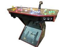 314 4-player, lighted, blade runner, yellow buttons, red buttons, white trackball, blue buttons, green buttons, tron joystick, spinner