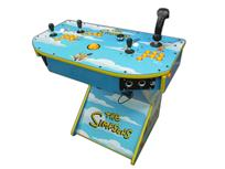 313 2-player, the simpsons, lighted, yellow buttons, yellow trackball, tron joystick, spinner