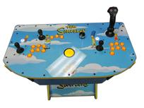 312 2-player, the simpsons, lighted, yellow buttons, yellow trackball, tron joystick, spinner