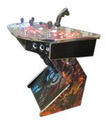 307 4-player, world of warcraft, blue buttons, orange trackball, red buttons, tron joystick, spinner, lighted