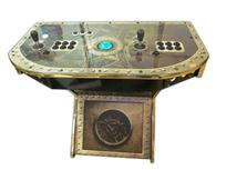 304 2-player, steampunk, black buttons, blue trackball