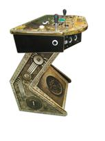303 2-player, steampunk, black buttons, blue trackball
