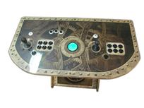 302 2-player, steampunk, black buttons, blue trackball