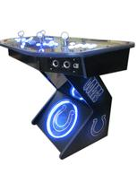 301 4-player, sports, colts, led lights, lighted, white buttons, blue buttons, spinner, blue trackball