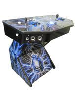 298 2-player, skull, blue flames, lightning, blue buttons, black buttons, blue trackball