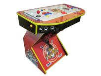 295 2-player, sports, hockey, panthers, red buttons, blue buttons, yellow buttons, red trackball