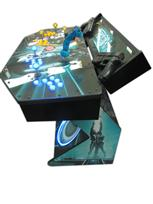 287 4-player, tron, led lights, lighted, yellow buttons, blue buttons, clear trackball, tron joystick, spinner