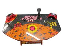 537 2-player, red buttons, yellow buttons, red trackball, space invaders, tron joystick, spinner