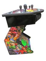 769 4-player, yellow buttons, blue buttons, red buttons, orange buttons, white trackball, black trim, marvel vs capcom, 2