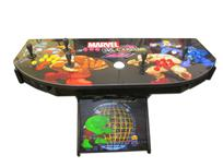 770 4-player, yellow buttons, blue buttons, red buttons, orange buttons, white trackball, black trim, marvel vs capcom, 2
